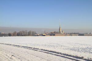фотосессия зимой на стрелке Васильевского острова