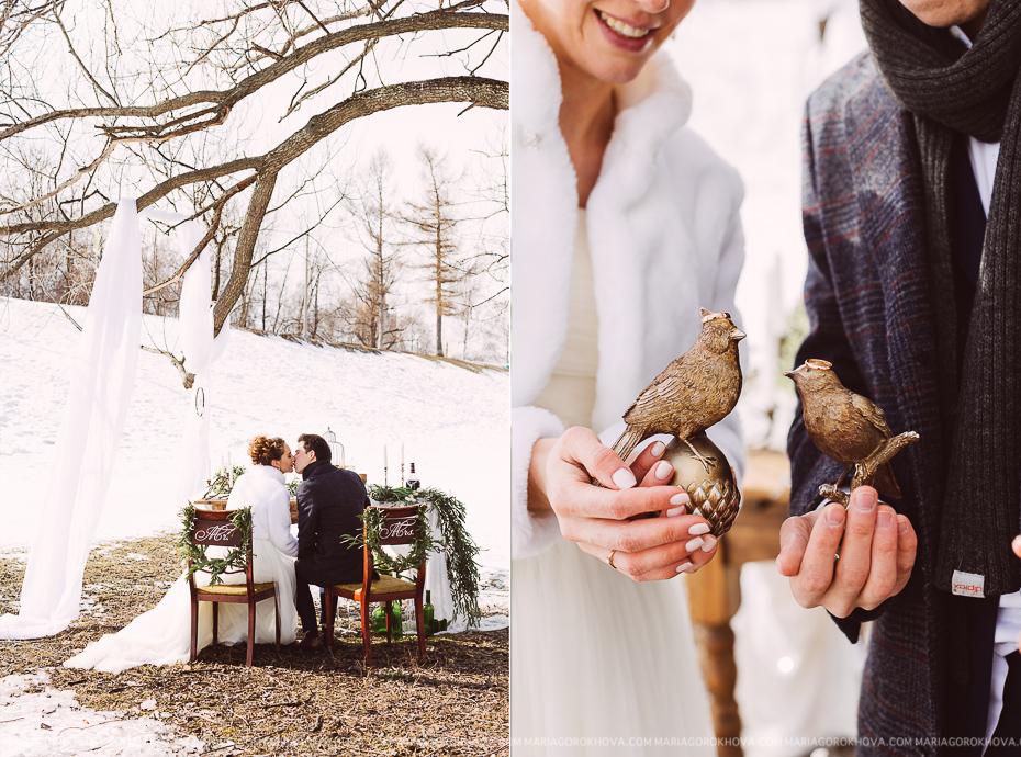 свадебная фотосессия ранней весной