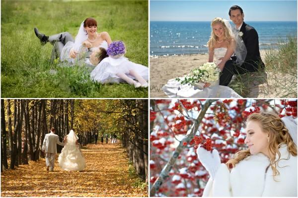 Идеи свадебной фотосессии на все времена года